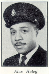 Alex Haley in Coast Guard uniform, 1949. Courtesy of the USCG Military.